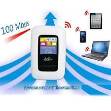 Unlocked 100Mbps WIFI 4G LTE WIFI router with sim card Slot 10 users 2100mah
