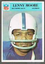 1966 Philadelphia Football Card #21 Lenny Moore -  50-years old, see pics!