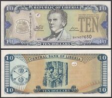 LIBERIA 10 DOLLARS 2011 UNCIRCULATED