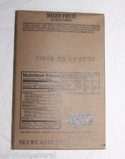 MRE Appetizer Mixed Fruit Side Dish Meals Ready to Eat Survival Army Snack US