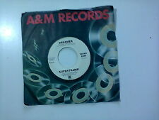 "Supertramp / Dreamer -Disco Vinile 45 Giri 7"" PROMO STAMPA USA 1980"