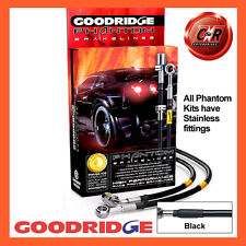 Nissan 200SX New S-14 94 on Goodridge Stainless Black Brake Hoses SNN0203-4C