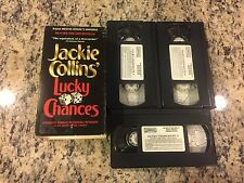 JACKIE COLLINS' LUCKY CHANCES 3 VHS TAPE SET! NOT ON U.S DVD SANDRA BULLOCK 1990