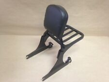 BLACK HARLEY SISSY BAR BACKREST +LUGGAGE RACK SOFTAIL CUSTOM FAT BOY NIGHT TRAIN
