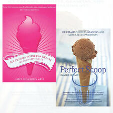 Ice Creams Collection 2 Books Set The Perfect Scoop,Ice Creams, Sorbets ,New