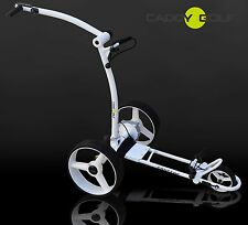 Caddy-golf concede Elektro trolley Weiss distanztimer, memory, motor 350w nuevo