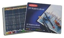 Derwent Water Color Pencils Watercolor Drawing Art 24-Pack (32883) Metal ... New