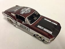 Harley Davidson, 1967 Ford Mustang GT Collectible Diecast 1:24 Maisto Toy, Brown