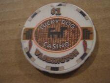 Vintage Lucky Dog Casino Washington $1 Casino Chip
