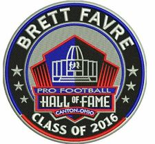 BRETT FAVRE GREEN BAY PACKERS PATCH NFL PRO FOOTBALL HALL OF FAME HOF INDUCTION