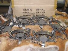 6 Duke #3 offset Coil Spring Traps  Beaver Fox Bobcat Coyote Wolf Trapping