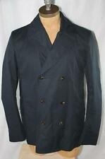 AUTH Gucci Men Winter Removable Lining Navy Peacoat Jacket 56