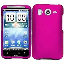 Hard Rubberized Case for HTC Inspire 4G - Pink