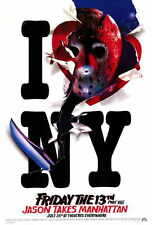 FRIDAY THE 13TH PART 8 JASON TAKES MANHATTAN Movie POSTER B 27x40