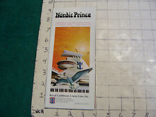 Vintage CLEAN brochure: M/S NORDIC PRINCE cruise lines 1971 w layout