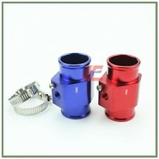 36MM BLUE WATER TEMP TEMPERATURE GAUGE RADIATOR HOSE SENSOR ADAPTER FITTING