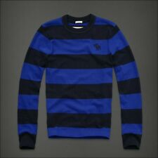 NEW Mens %ABERCROMBIE FITCH% Navy Blue Vintage Long Sleeve Pullover T-Shirt Sz.M