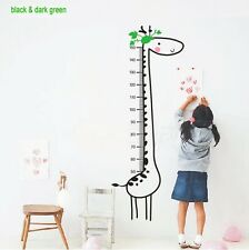 Wall Sticker Giraffe Growth Chart Child Bedroom Decoration Kids Height Measure