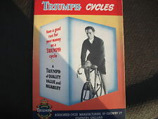 Triumph Cycles sales brochure,original,c1940's/1950's, poster style,good cond'n