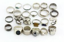 Lot of 23 Sterling Silver 925 Mexico Taxco Signed Rings