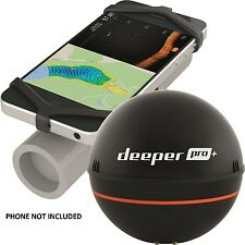 Deeper NEW Fishing Sonar ProPlus Latest Model, Wifi, GPS, + FREE PHONE HOLDER