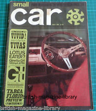 Small Car May 1965 Targa Florio Preview Ginetta G4 1500 Road Test Fiat v Simca