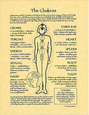POSTER THE CHAKRAS  Instructional Guide Poster Page