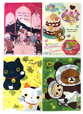 San-X Rilakkuma Charactor Plastic A4 File Folder - 4 Assorted Color - A (6c104)