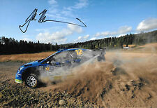 Juha Kankkunen SIGNED 12x8 , M-Sport Ford Focus RS WRC   Rally Finland  2010
