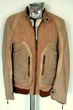 Roberto Cavalli Suede & Leather Jacket Sand Beige EU50 Large RRP £1045 coat