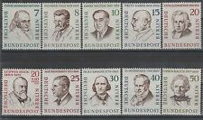 Germany Berlin 1957-59 Personalities SG B159-B168 MNH