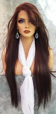 LACE FRONT C PART STRAIGHT WITH SIDE BANG  WIG CLR FS4.27 GORGEOUS SEXY 143