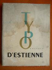 BULLETIN OFFICIEL1946 : TYPOGRAPHES D'ESTIENNE – GRAPHISME ILLUSTRATION