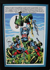JIM STERANKO giclee CANVAS Captain America 113 FRAMED splash SIGNED 2X Stan Lee