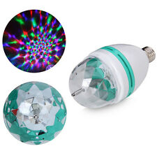 E27 3W Colorful Rotating Stage RGB LED Light Bulb Xmas Party Disco DJ Lamp US