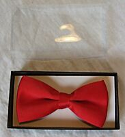 RETRO NEW SATIN BOW TIE IN RED WEDDINGS EVENING FORMAL PARTY PROMS