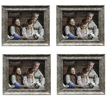 LOT OF 4 SILVER WOODEN 8X10 PICTURE PHOTO FRAMES - Nice Quality