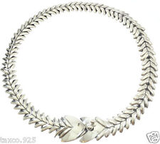 VINTAGE STYLE MOLINA TAXCO MEXICAN 925 STERLING SILVER FISH NECKLACE MEXICO