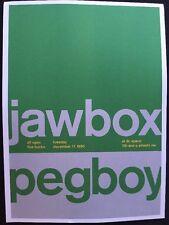 """Jawbox,Peg boy & Kraut. 2 Sided Rock Concert Mini Poster Op Art 14"""" x 10"""""""