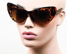 Oversized Extra Large Cat Eye Sunglasses Jackie O Vintage Style Tortoise K569