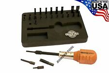 Grace USA Gunsmith 24 Bit Screwdriver Set with 1/4in Magnetic Spinner Handle