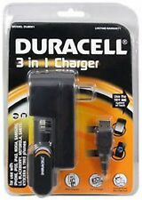 DURACELL 3 IN 1 Charger For Phone/ Wall Charger + Car Charger, USB