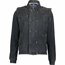 AQUASCUTUM Giacca in pelle scamosciata it54 it52 Super Morbida Pelle L/M