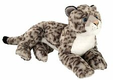 "NEW PLUSH WILD REPUBLIC CUDDLEKINS 16"" LYING SNOW LEOPARD CUDDLY SOFT TOY TEDDY"