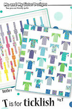 Me & My Sister Designs T IS FOR TICKLISH Quilt Pattern