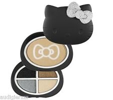 Hello Kitty Shimmering Powder and Eyeshadow Black Palette Crystal Bow Sephora