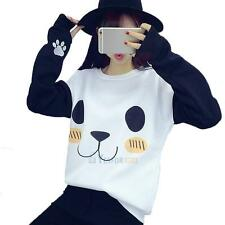 Women's Pullover Winter Hoodie Cute Panda Print Sweater Casual Sweatshirt Blouse