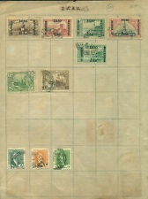 Iraq 10 diff used mounted on graph sheet