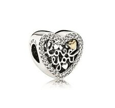 NEW! Authentic Pandora Love Script Clear CZ Charm #792037CZ $75 *Special*