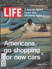 Life Magazine  October 8, 1971   New Cars   GREAT ADS  State Of The Economy
